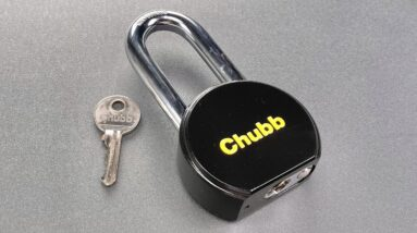 [1355] Restored Chubb Round Body Padlock Picked